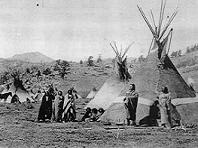 Ute indian encampment