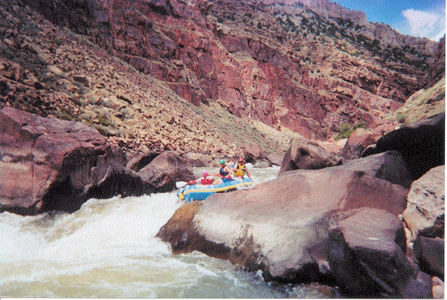 East Cross Mountain rafting