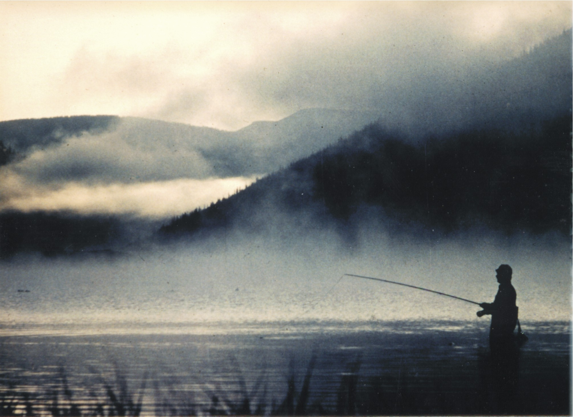 Fly fishing in the fog of Yampa River