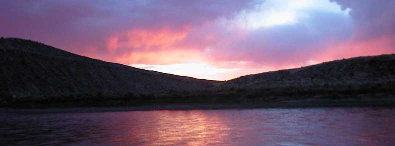 Sunset on Yampa River by Wayne Olsen