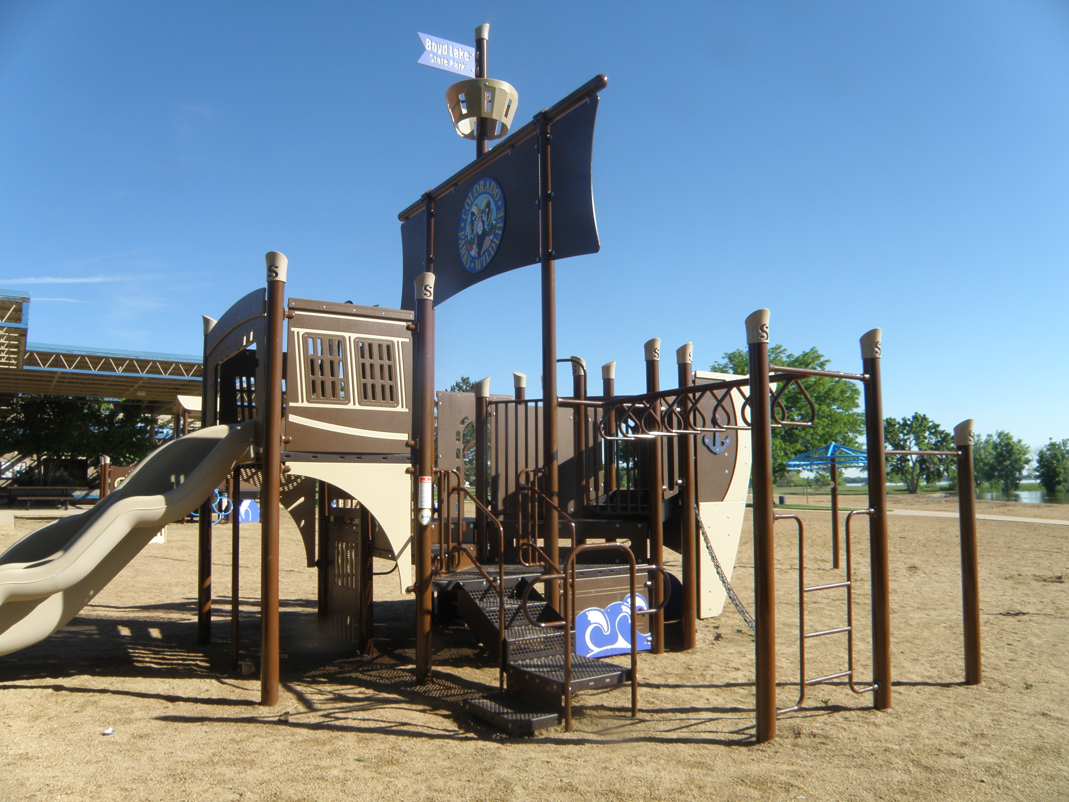 Playground equipment at the park